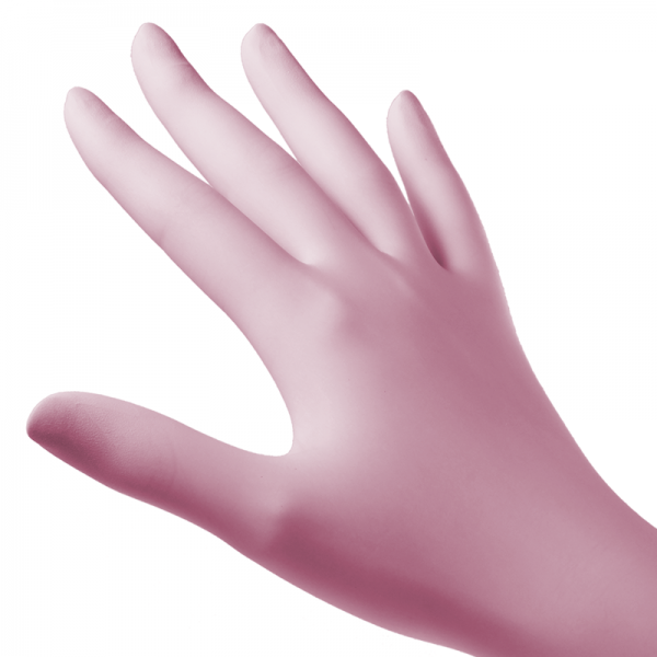 Soft Nitril Pink Gloves
